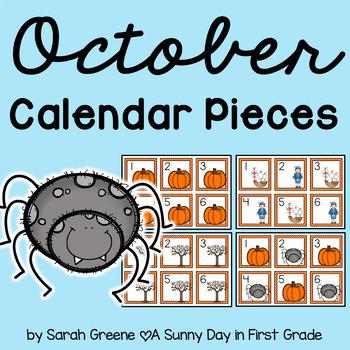 October Calendar Pieces!
