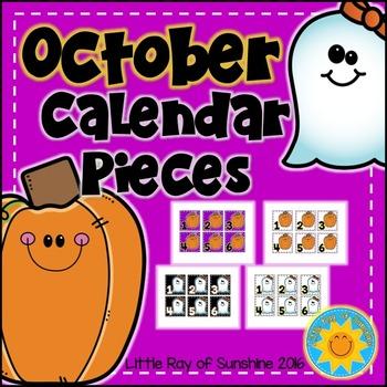 Calendar Numbers October