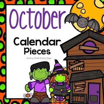 October Calendar Pieces - Halloween and Autumn