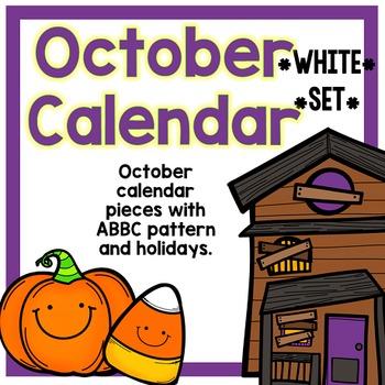 October Calendar Pieces - White Set