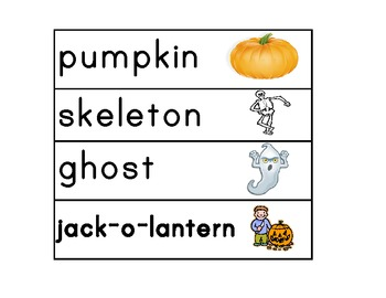 October Calendar Pieces and Word Wall!