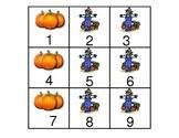 October Calendar Pieces in a-b-b pattern