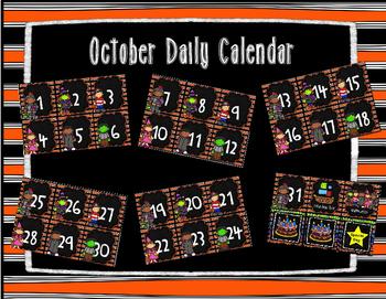 October Calendar Set