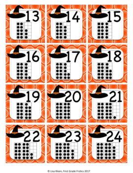 October Calendar Squares Set With Ten Frames That Encourage Math Talk