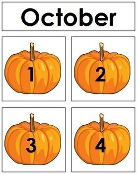 October Calendar Tags