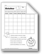October Calendar and Columbus