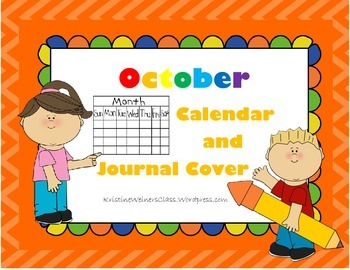 October Calendar and Journal Cover