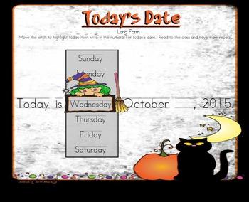 October Calendar and Morning Meeting