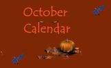 October Calendar for the Promethean Board