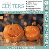 October Centers — First Grade Math and ELA