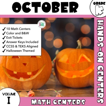 October Centers -- Kindergarten MATH ONLY