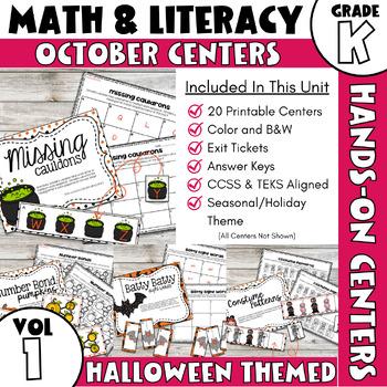 October Centers -- Kindergarten Math and ELA