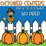October Centers for Pre-Kindergarten and TK - Halloween