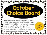 October Choice Board