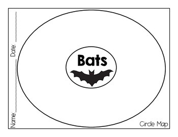 October Circle & Tree Maps: Pumpkin, Spider, & Bat Writing