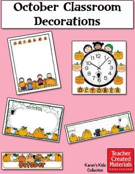 October Classroom Decorations by Karen's Kids (Digital Download)