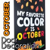 October Door Decoration - October Bulletin Board Design -