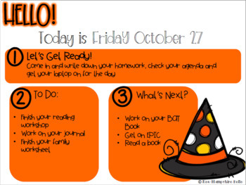 October Classroom Slides EDITABLE