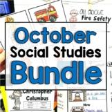 "October  ""Click-and-Print"" Social Studies Bundle"