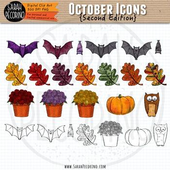 October Clip Art {Second Edition}
