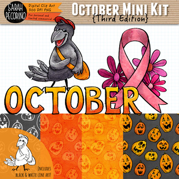 October Clip Art and Mini Design Kit {Third Edition}