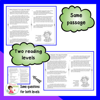 Reading Comprehension Passages and Questions - October