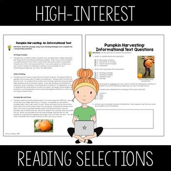 October Close Reads for Google Slides Digital and Printable