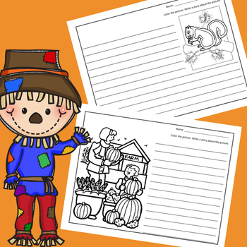 October Color & Write A Story