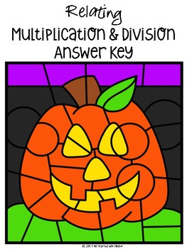 October Color by Code—Multiplication