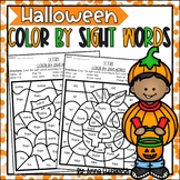 October Color by Sight Words