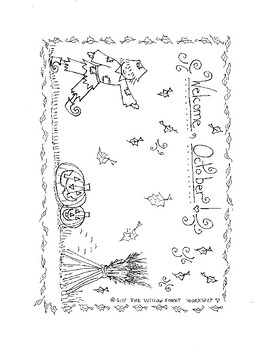 October Coloring Page {Fall Coloring Page}