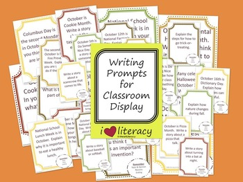 Writing Prompts October 2nd Grade Common Core