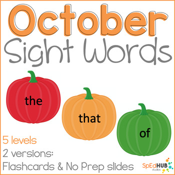 October Common Sight Words
