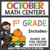October Math Centers and Task Cards