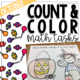 October Count and Color Math Tasks
