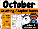 October Counting Adapted Books {set of 5 books) Print and Digital