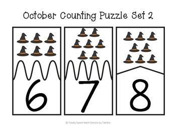 October Counting Self-Checking Puzzles