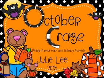October Craze Ready to Print Math and Literacy Activities