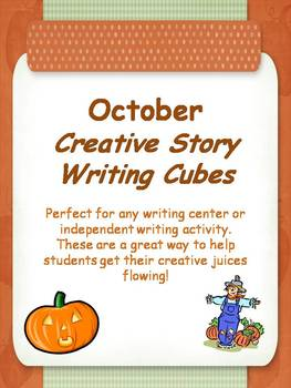 October Creative Story Writing Cubes