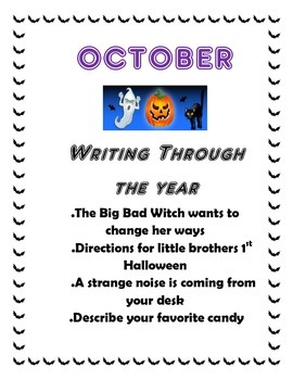 October Creative Writing Projects