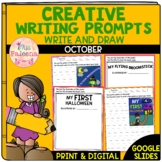October Creative Writing Prompts | Write and Draw | Print