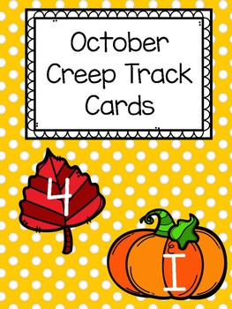 October Creep Track Letter and Number Cards