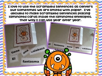 Scrambled Sentences OCTOBER in SPANISH