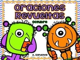 Oraciones revueltas Scrambled Sentences OCTOBER in SPANISH