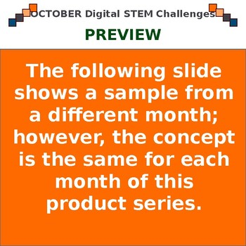 October DIGITAL STEM Challenges