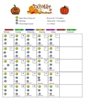 October Daily Behavior Chart