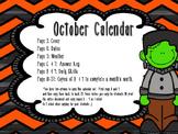 October Daily Calendar Activity Journal