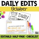 October Daily Edits
