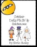 October Daily Fix-it Sentences
