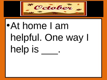October Daily Journal Prompts
